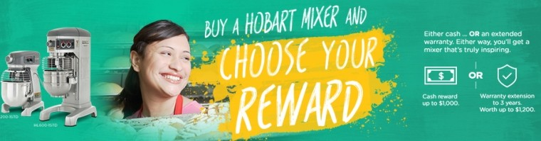 Hobart Announces 'Inspired Rewards' Mixer Promotion: